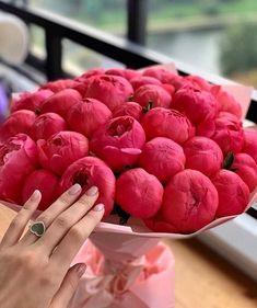 Peonies Bouquet, Bouquets, Garden Doors, Watermelon, Raspberry, Girl Fashion, Fruit, Vegetables, Flowers