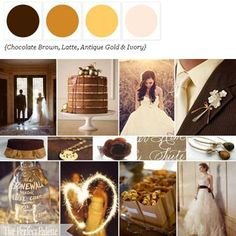 Rich Chocolate Brown, Latte, Antique Gold + Ivory via The Perfect Palette. xo