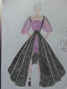 violet black- fashion illustration