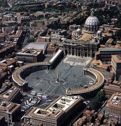 Plaza de San Pedro del Vaticano, de Bernini.