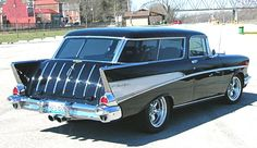 """57 Nomad - when I asked my husband for one of these, he brought me home a 65 Nova named """"Ain't No Nomad"""" (sigh) it's a good thing I love him! :)"""