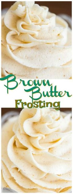Brown Butter Frosting recipe - The Gold Lining Girl Brown Butter Frosting is magical! My basic buttercream recipe gets a major upgrade. Made with nutty, caramel-like, fragrant, toasty, rich brown butter. Brown Butter Frosting, Icing Frosting, Caramel Frosting, Frosting Recipes, Browned Butter Frosting Recipe, Brown Sugar Icing, Butter Cream Icing Recipe, Frosting Tips, Fun Desserts