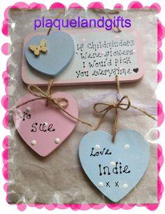Childminder thank you Personalised Handmade plaque sign Keepsake gift  £8.50