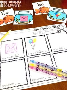 Beginning sounds is an important skill in Kindergarten and early primary classrooms. Stop by and pick up a FREE beginning sounds assessment tool. Plus you'll also find loads of ideas for letter sound practice. Easy and practical activities that require little or no prep. You'll find games, pocket chart activities, centers, printables, and more. #printableprincess #kindergarten