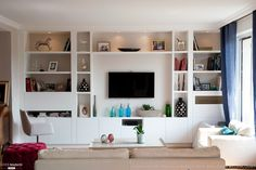 Need le grand meuble ! Home And Living, Home Living Room, Living Room Shelves, Home, Living Room Tv, Living Room Tv Wall, Living Room Tv Cabinet, Living Room Wall Units, Room