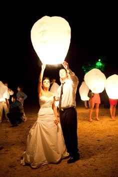 sky lantern at wedding