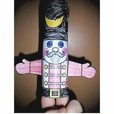 Cardboard Tube Nutcracker Puppet Craft