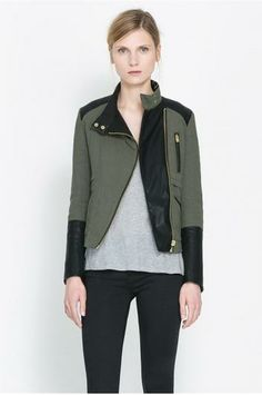 olive cotton jacket.