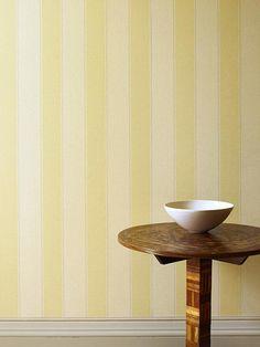 Papel pintado Penforld de rayas color amarillo, telas & papel