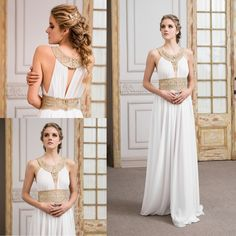801c70d54 vestido de novia griego de gasa · Gossamer greek wedding dress -  www.santoencanto.