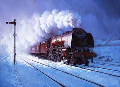 Fine Art Prints of Railway Scenes & Train Portraits - Trent Valley Memory by John Austin