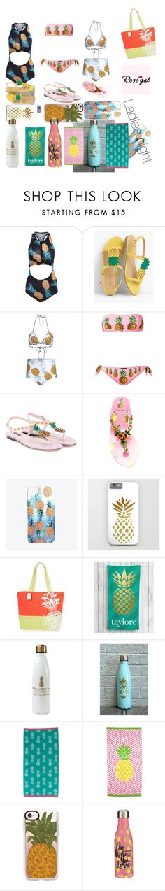 """Ladies night at the beach"" by metal-ashes ❤ liked on Polyvore featuring Talbots, Dolce&Gabbana, Nikki Strange, Caribbean Joe, Personalized Planet, Karma, Casetify and Studio Oh!"