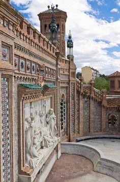 Retablo de los Amantes. Escalinata. Neomudejar 1922. Teruel. Spain.