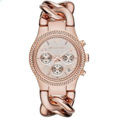 Michael Kors Women's MK3247 Runway Analog Display Analog Quartz Rose Gold Watch. Go to the website to read more description.