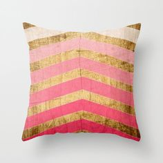 Pink Ombre Pillow - Geometric Pattern    Throw Pillow Cover made from 100% spun polyester poplin fabric, a stylish statement that will liven up