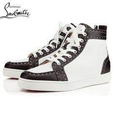 d7de474eb796 Cheap Christian Louboutin Shoes Men Sneakers Fleuri Black White Sale
