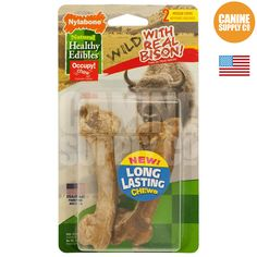 Healthy Edibles Wild Bison Dog Chew Treats - All Sizes