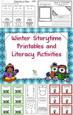 These are different printables and activities perfect to use after reading a winter fiction or nonfiction book or when you just need some winter themed literacy activities. I recommend these for grades K-3 but of course this can vary according to the students and their abilities. These activities would work well in a literacy center, for independent work, fast finishers or for a sub.
