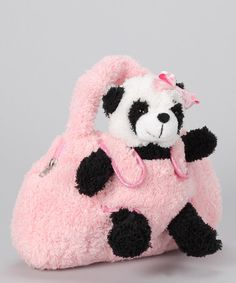 Look at this #zulilyfind! Pink Panda Purse #zulilyfinds