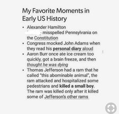 I find it so funny that Im supposedly related to John Adams but I take Alexanders side in all there bee Are those true? History Memes, History Facts, Funny History, Funny Quotes, Funny Memes, Jokes, Lyric Quotes, Movie Quotes, Quotes Quotes