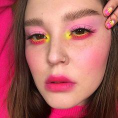 eyeshadow face art ~ eyeshadow face art - face art with eyeshadow - face art using eyeshadow - eyeshadow art on face Makeup Inspo, Makeup Art, Makeup Inspiration, Beauty Makeup, Hair Makeup, Bright Makeup, Colorful Eye Makeup, Cool Makeup Looks, Cute Makeup