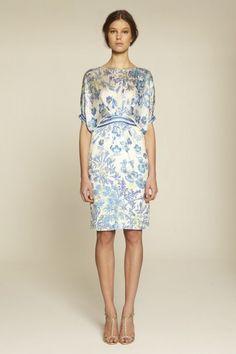 Collette Dinnigan Satin Georgette Tuck Front Dress