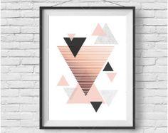 Blush Print Blush Wall Art Blush Poster Copper par PrintAvenue