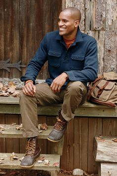 Duck boats outfit men ll bean 30 best ideas Ll Bean Boots Mens, Boots And Jeans Men, Ll Bean Duck Boots, Ll Bean Men, Bean Boots Outfit, Workwear Fashion, Mens Fashion, Winter Shirts, Boating Outfit