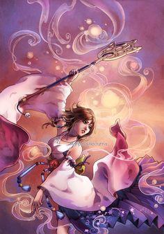 Yuna Dancing by mariposa-nocturna on DeviantArt
