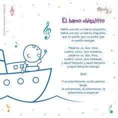 El barco chiquitito #canción Rhyming Activities, Preschool Songs, Preschool Learning Activities, Preschool Education, Teaching Kids, Spanish Lessons For Kids, Preschool Spanish, Spanish Class, Spanish Help
