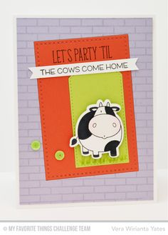 The Whole Herd stamp set and Die-namics, Small Brick Background, Cross-Stitch Rectangle STAX Die-namics - Vera Yates #mftstamps