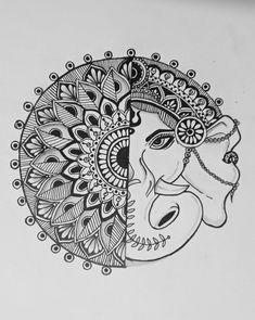 Easy Mandala Drawing, Mandala Sketch, Simple Mandala, Mandala Art Lesson, Mandala Artwork, Mandala Painting, Easy Doodle Art, Doodle Art Designs, Doodle Art Drawing