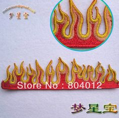 Chama Frete Grátis ~ 10 pcs / Lot x bordado Sew On ou ferro no remendo ~ Atacado DIY acessório Applique do emblema em Apliques de Roupas & acessórios no AliExpress.com | Alibaba Group