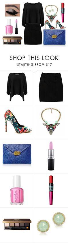 """Dress code: Total black"" by dianahuertasp ❤ liked on Polyvore featuring Diane Von Furstenberg, Prada, Kayu, MAC Cosmetics, Essie, Maybelline, Bobbi Brown Cosmetics and Anne Sisteron"