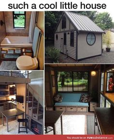 280 Sq.Foot Japanese Inspired Tiny House near Portland, Oregon - Has upstairs loft, jetted tub and collapsible roof for moving. | Watch video tour here: http://www.fyi.tv/shows/tiny-house-hunting/videos/tiny-and-portable-in-portland Tiny House Design, Small Living, Tiny House Living, Fyi Tv, Hunting Videos, Upstairs Loft, Jetted Tub, Composting Toilet, Portland Oregon