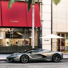 Ferrari LaFerrari painted in Grigio w/ exposed carbon fiber Photo taken by: @adam_bornstein on Instagram