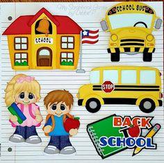 Back to School, School Kid Cuties, and School & School Bus patterns by Cuddly Cute Designs