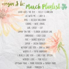 March Playlist up on our Spotify! Go check it out and let us know what you're listening to this month! xo