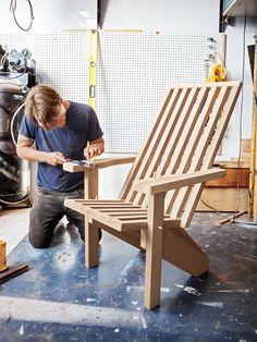 Contemporary Adirondack Chair.  Plans from Popular Mechanics