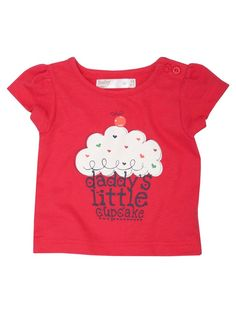 M Kids Daddys little cupcake t-shirt