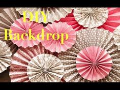 diy kraft paper fans backdrop pinwheel abanicos de papel decoracion de fiestas
