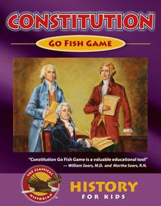 Constitution Go Fish makes learning the Constitution Fun! Great for pre-teens and teens! Constitution Go Fish teaches the American Constitution through images, hints, and categories. Learn about the Separation of Branches, Limited Government, Checks and Balances, the Amendments, the Legislative Branch, the Executive Branch, the Judicial Branch, Judicial Review, Bill of Rights, Founding Fathers, Constitutional Convention, and the Preamble. For Video, Go Here