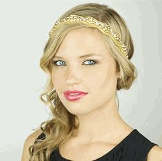 Gold is hot for hair accessories, stretch bands, hair  jewelry this fall 2015.  One of our favorite pieces is by Pink Pewter that is full of crystals.  Love Love Love.