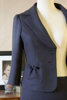 Jacket Pocket with Bow Detail Chaqueta Estampada 08ba9624ee00