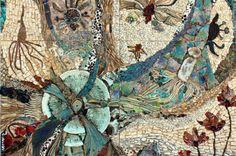 Creation of The Plants. Stone mosaic by Yugoslavian born artist Ilana Shafir Stone Mosaic, Mosaic Glass, Mosaic Tiles, Mosaic Wall, Eggshell Mosaic, Mosaic Artwork, Virtual Museum, Fused Glass Art, Stained Glass