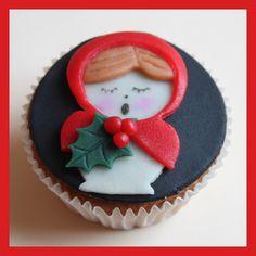 Babushka carol singer cupcake