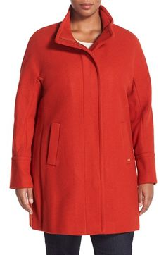 Ellen Tracy Wool Blend Stadium Coat (Plus Size) available at #Nordstrom