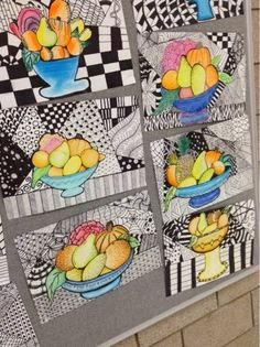 Art at Becker Middle School: Project updates- Zentangle Still Life