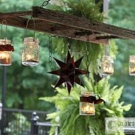 "Old Ladder & Mason Jar Patio ""Chandelier""...instructions included."