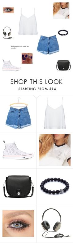 """music"" by synclairel ❤ liked on Polyvore featuring Alice + Olivia, Converse, rag & bone and Frends"
